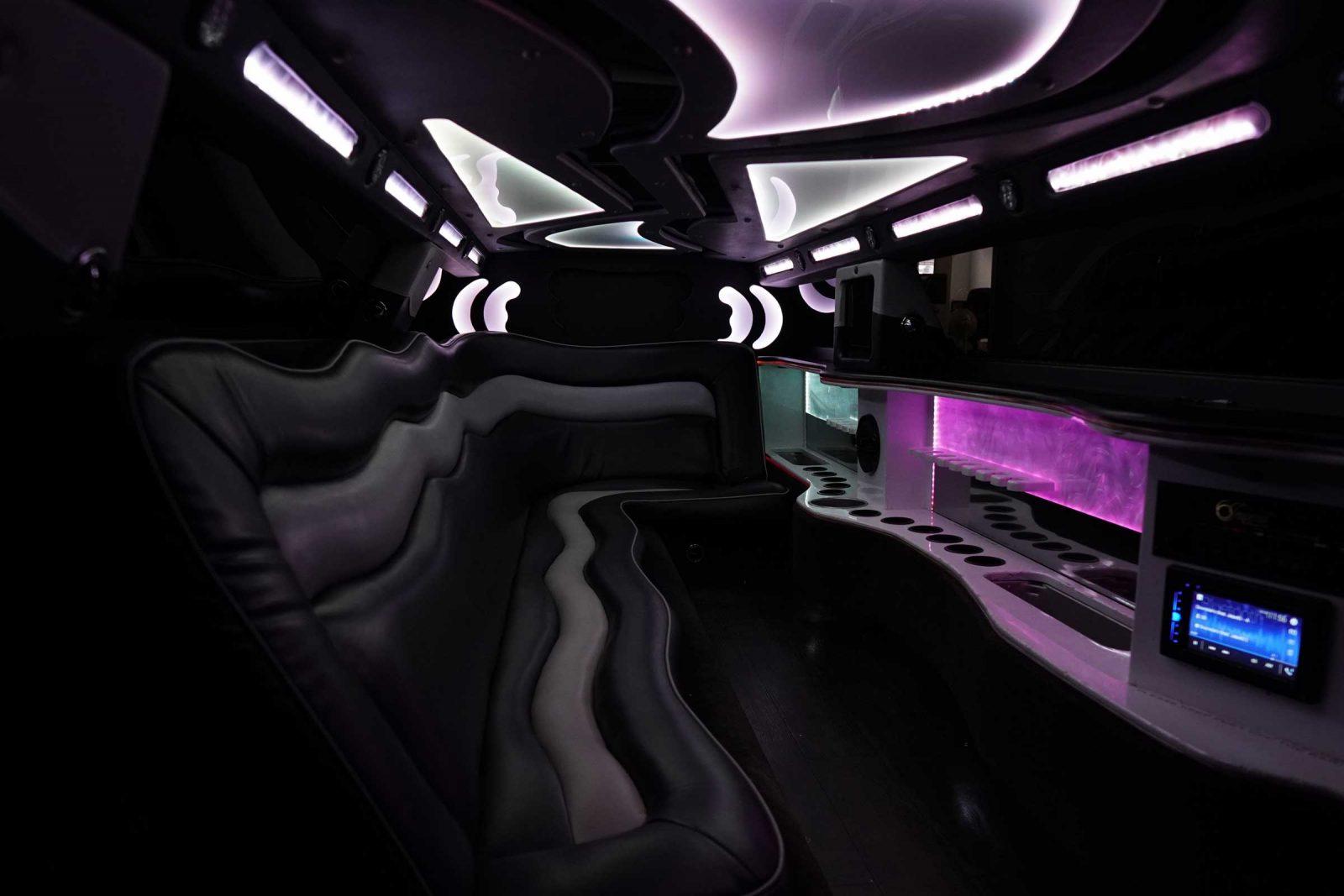 spacious limousine interior photo